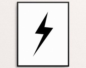 340x270 Lightning Bolt Print Etsy