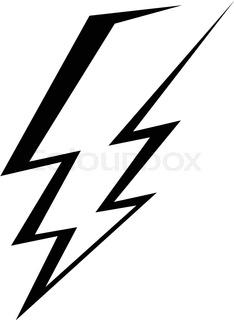 234x320 Vector Lightning Bolt Icon On Black Eps10 Stock Vector Colourbox