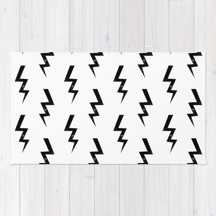700x700 Bolts Lightning Bolt Pattern Black And White Minimal Cute