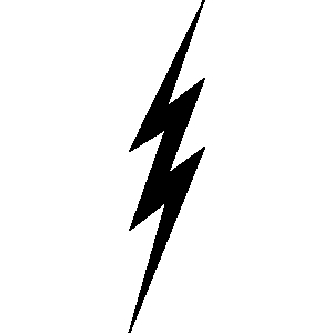 300x300 Lightning Bolt Clip Art
