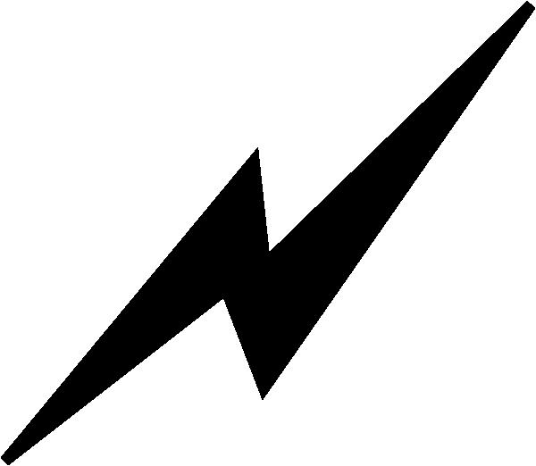 600x522 Black Lightning Bolt Clip Art