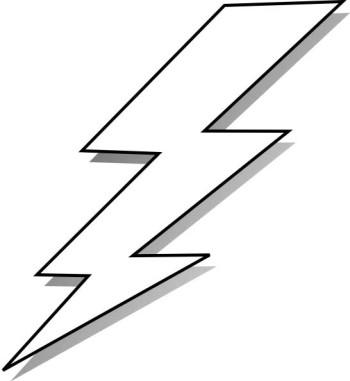 350x381 Lightning Bolt Clipart Black And White Free 2