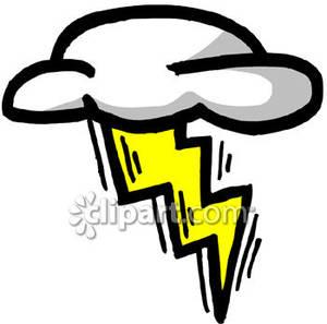 300x297 Clouds Clipart Lightning Bolt