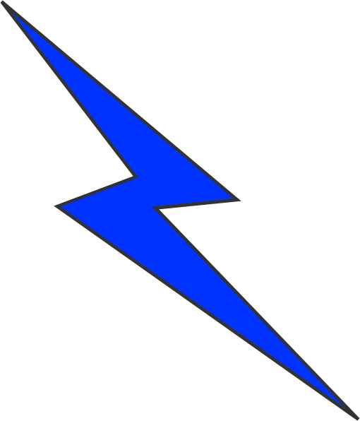 510x596 Lightning Bolt Clip Art