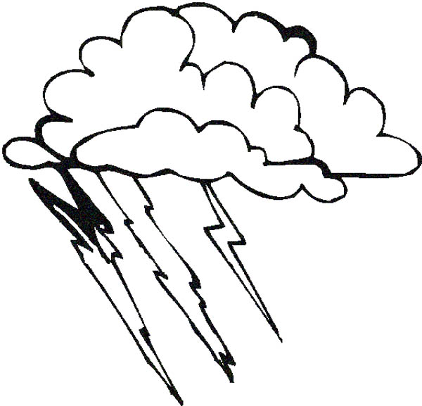 600x577 Lightning Bolt Coloring Pages