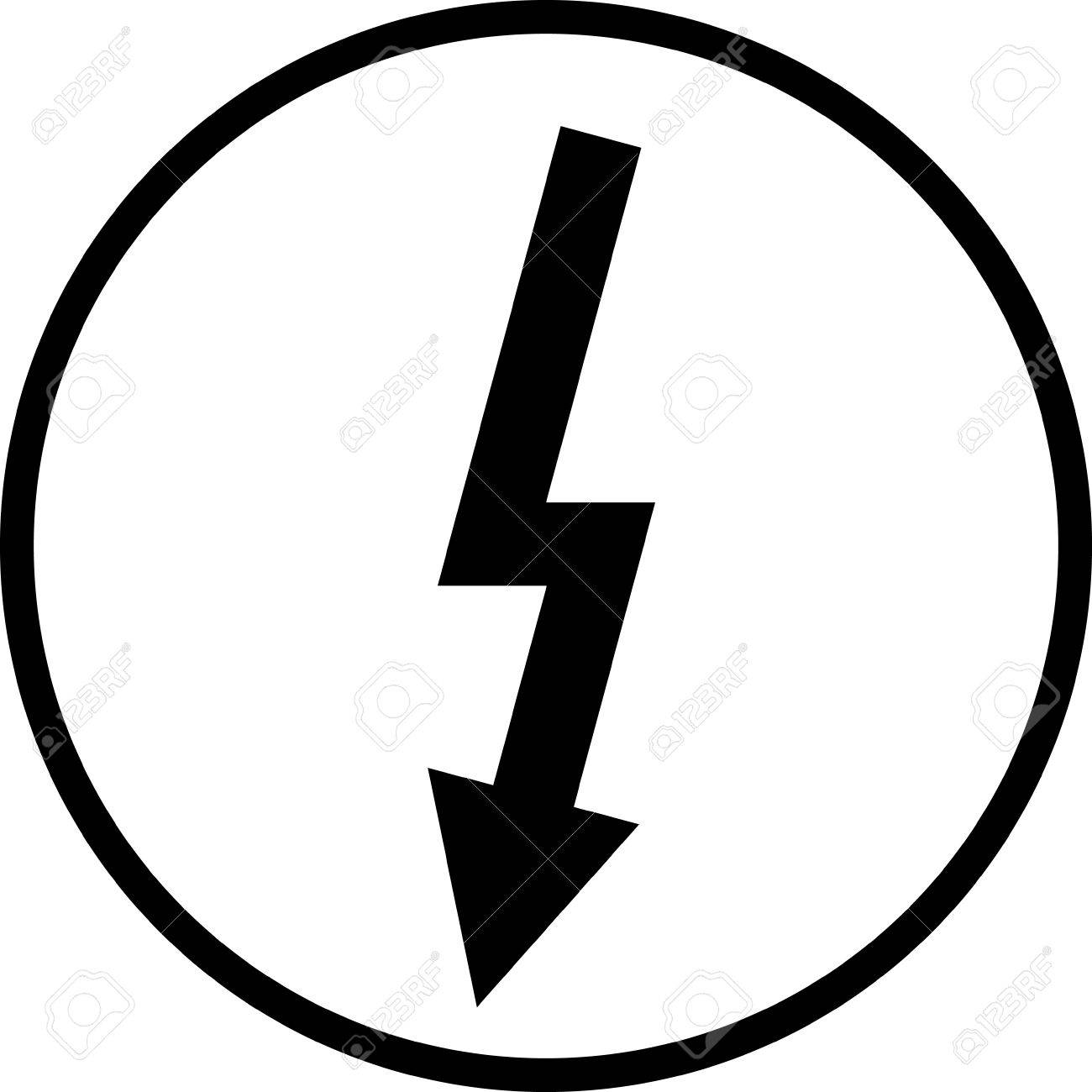 1300x1300 Lightning Bolt High Voltage Vector Sign Isolated Royalty Free
