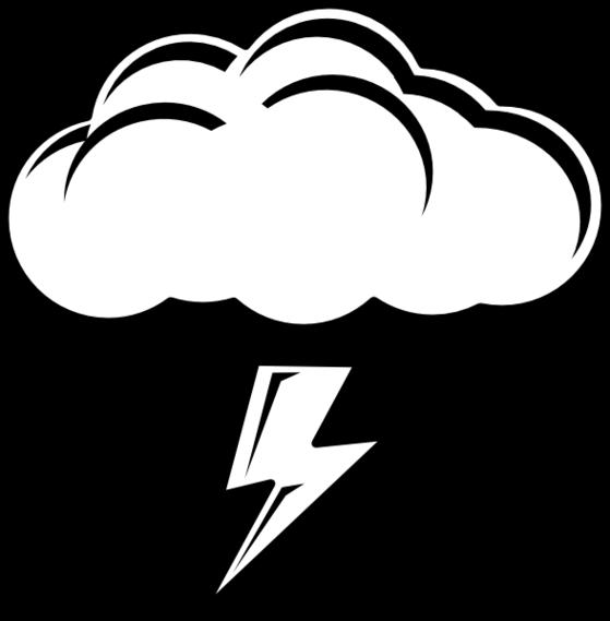 559x569 Lightning Cloud Clipart