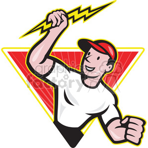 300x300 Royalty Free Electrician Lightning Bolt Standing Tri 387879 Vector