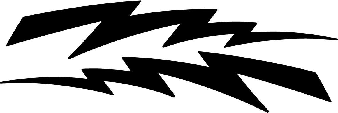 1160x391 Graphics For Truck Lightning Bolt Graphics