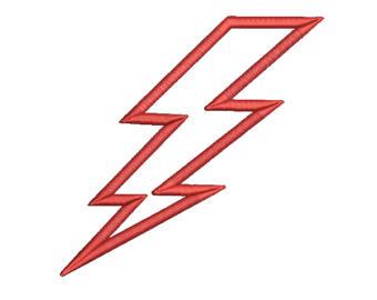 340x270 Lightning Bolt Applique Etsy