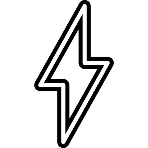626x626 Lightning Bolt Outline Icons Free Download