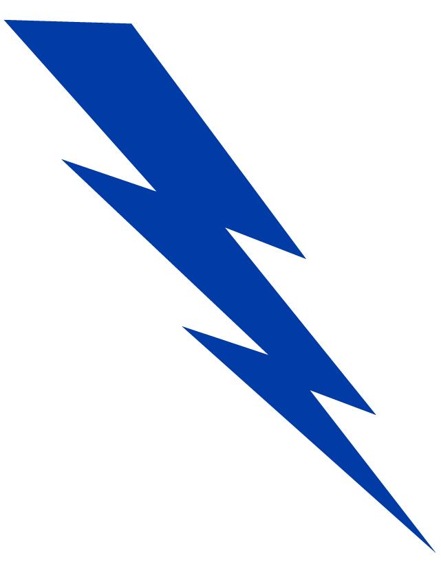 641x837 Blue Lightning Bolt Temporary Tattoo