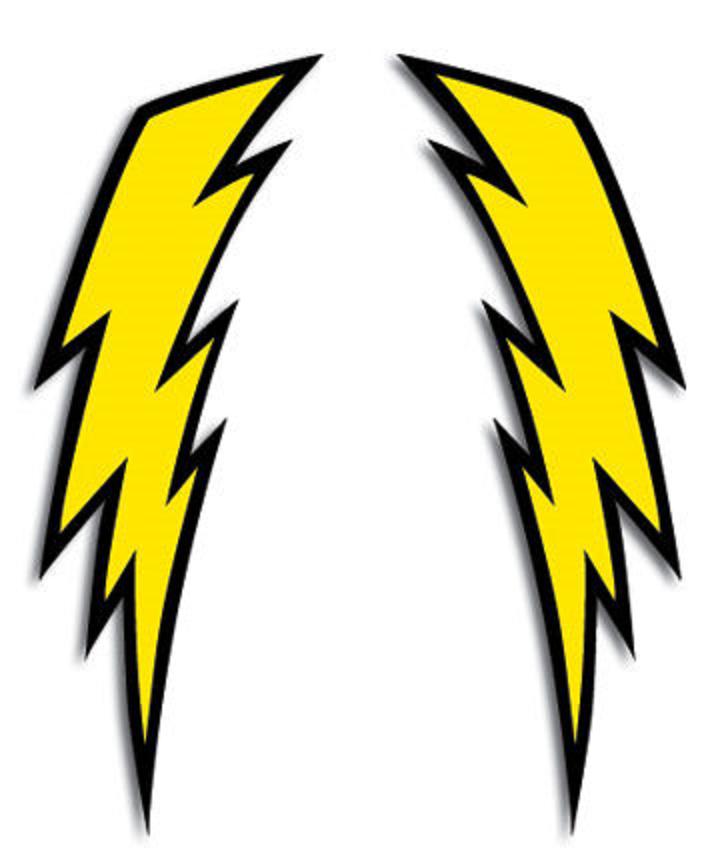 724x868 Vintage Bob Hannah Lightning Bolt Decals Helmet Motocycle Yellow