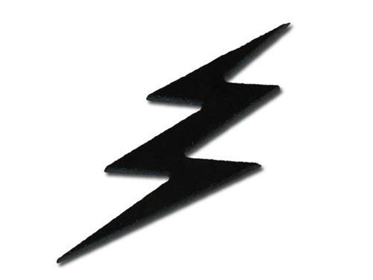 750x563 Black Iridescent Lightning Bolt Cutups