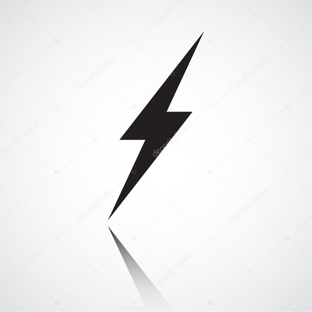 1023x1024 Minimalist Lightning Bolt Stock Vector Goldenshrimp