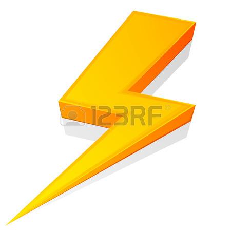 450x450 Vector Lightning Silhouette. Lightning Bolt Icon. Set Of Black