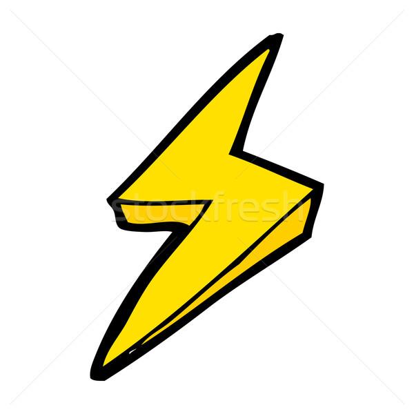 600x600 Cartoon Lightning Bolt Symbol Vector Illustration