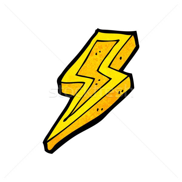 600x600 Cartoon Lightning Bolt Vector Illustration Lineartestpilot