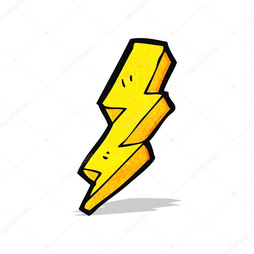 1024x1024 Cartoon Lightning Bolt Stock Vector Lineartestpilot