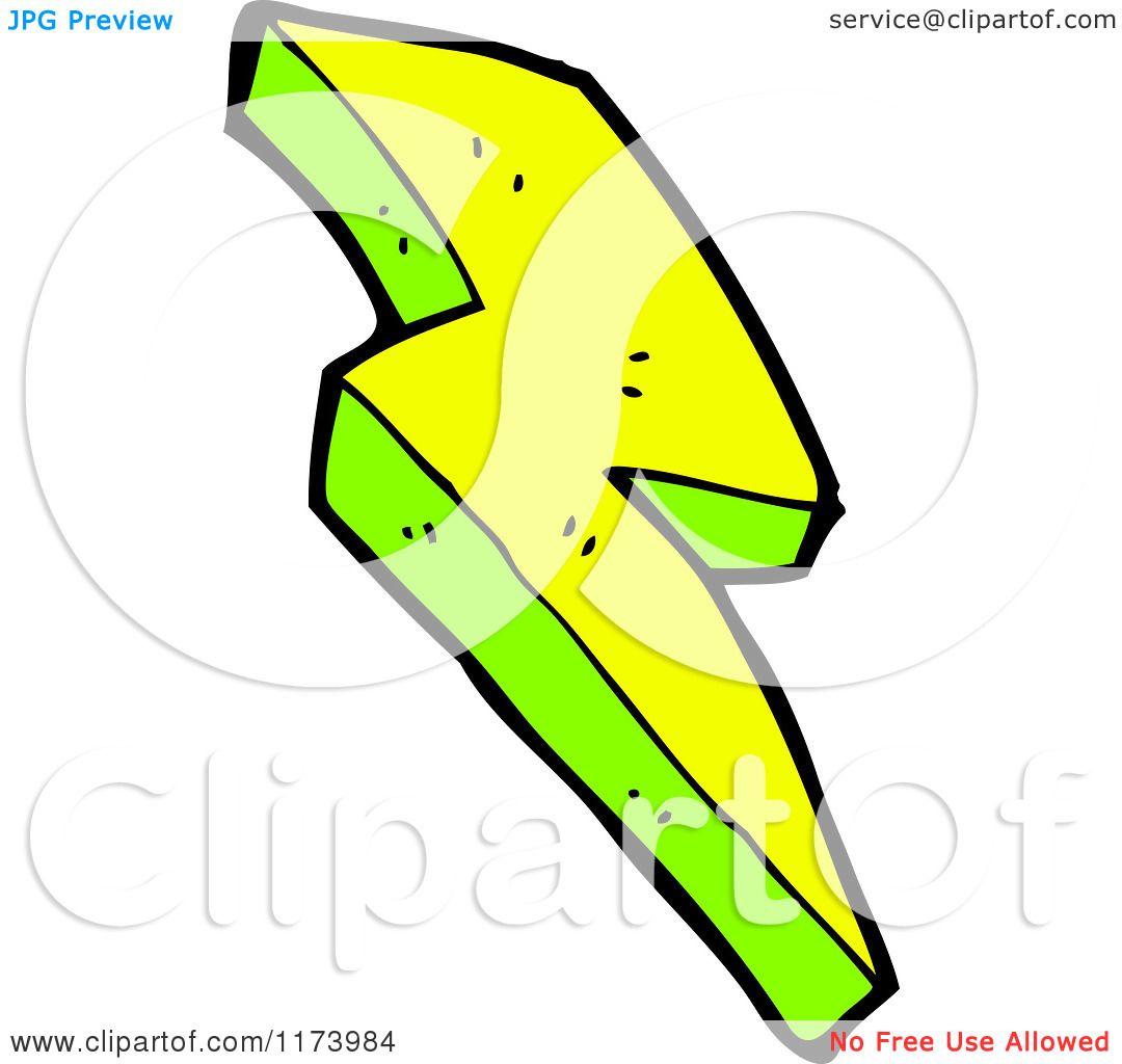 1080x1024 Cartoon Of A Yellow And Green Lightning Bolt