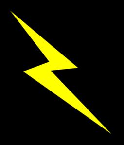 255x298 Lightning Bolt Clip Art
