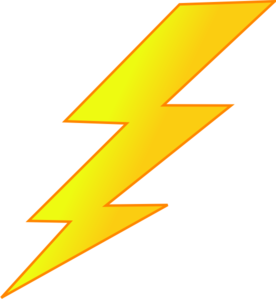 276x299 Lightning Bolt Clipart