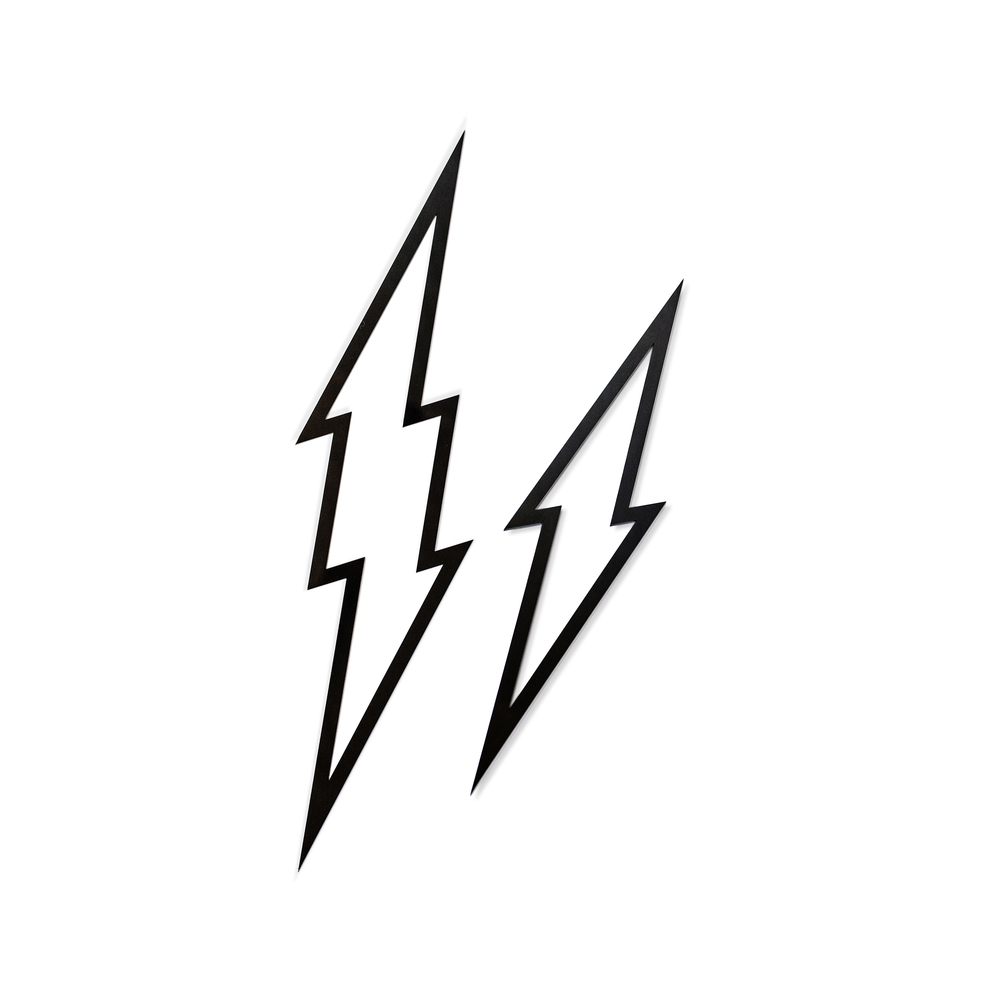 1000x1000 Lightning Bolt Outline 4 Colors Tomfoolery Photobooth