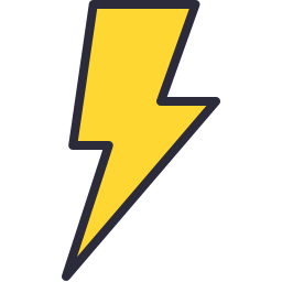 256x256 Lightning Bolt Icon Outline Filled