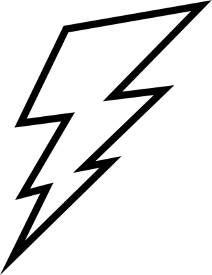 309x400 Lightning Bolt Outline Clip Art