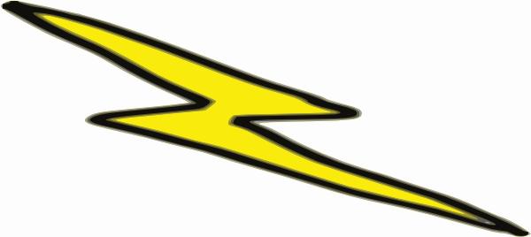 600x268 Lightning Clipart Outline