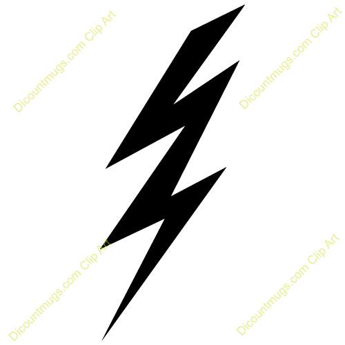 500x500 Lightning Clipart Silhouette