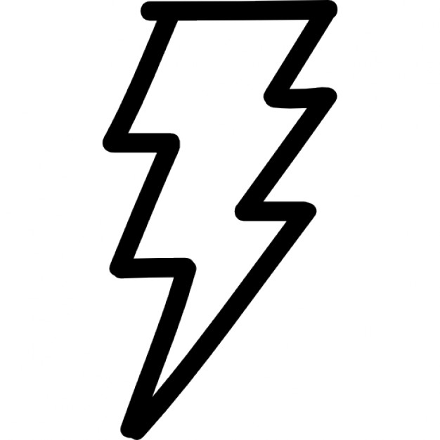 626x626 Thunder Bolt Hand Drawn Outline Icons Free Download