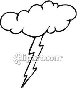 262x300 Of A Lightning Bolt From A Cloud