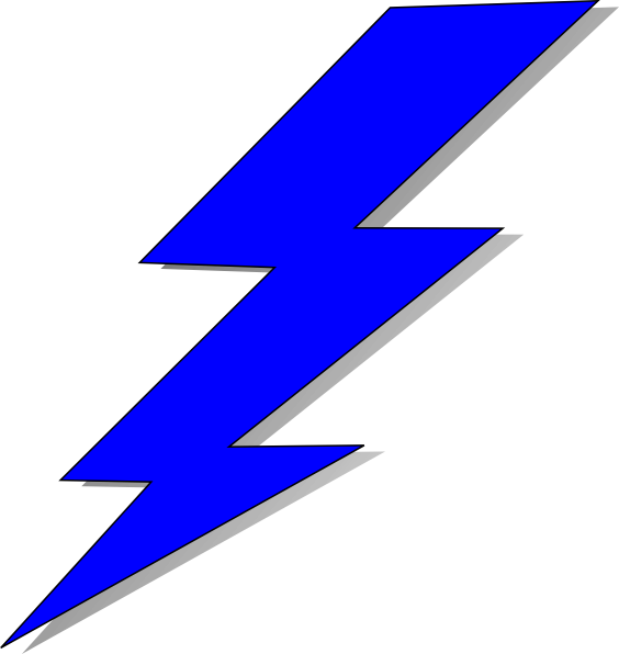564x596 Graphics For Curved Lightning Bolt Graphics