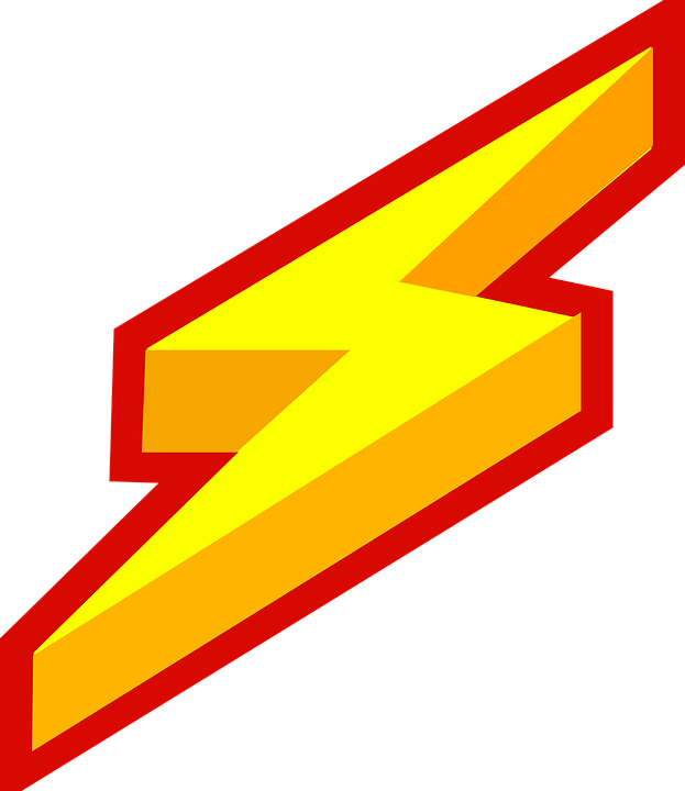 623x720 Electrical Clipart Red Lightning Bolt