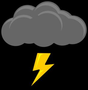 294x300 Cloud With Lightning Bolt Clip Art