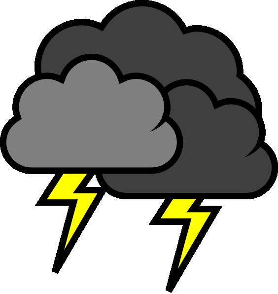 564x596 Lightening Clouds Clip Art