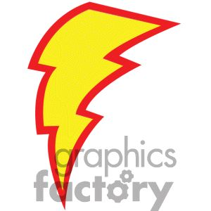 300x300 Royalty Free Yellow Lightning Bolt Clipart Image, Picture Art