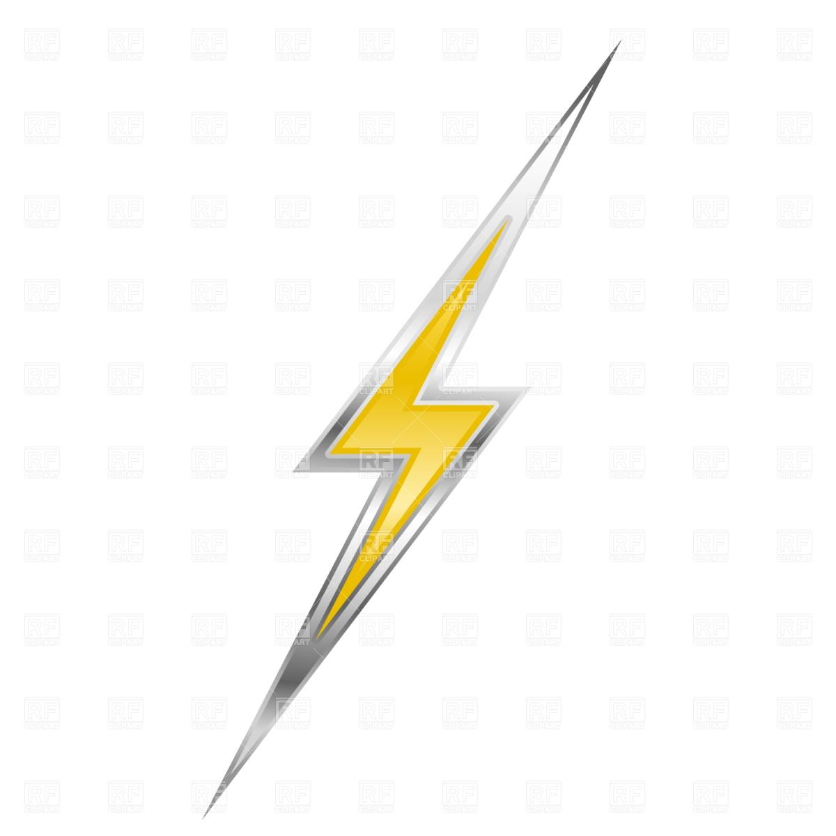 1200x1200 Set of lightning Royalty Free Vector Clip Art Image