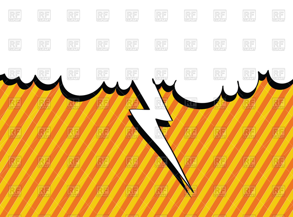 1200x890 Speech Bubble With Lightning In Pop Art Style Royalty Free Vector