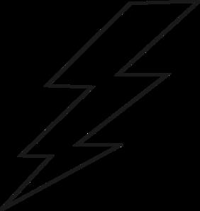 282x298 Lightning Black Bolt Clip Art