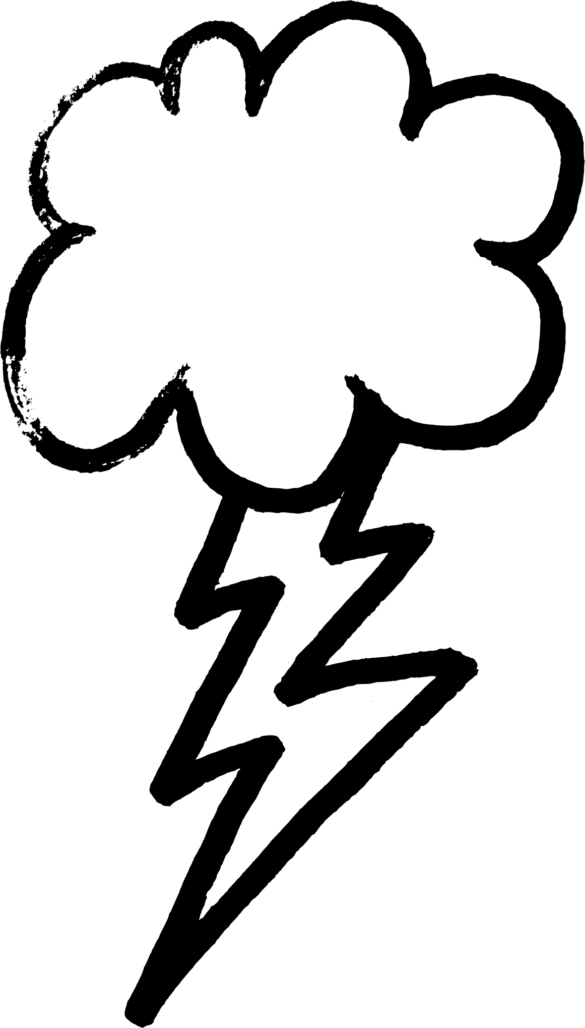 1161x2038 Thunder Clipart Black And White