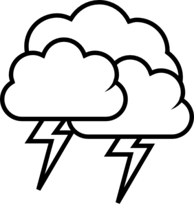 282x298 Thunderstorm Clipart Black And White