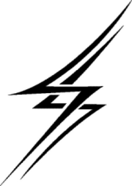 426x596 Zoomed In Lightning Bolt Clip Art