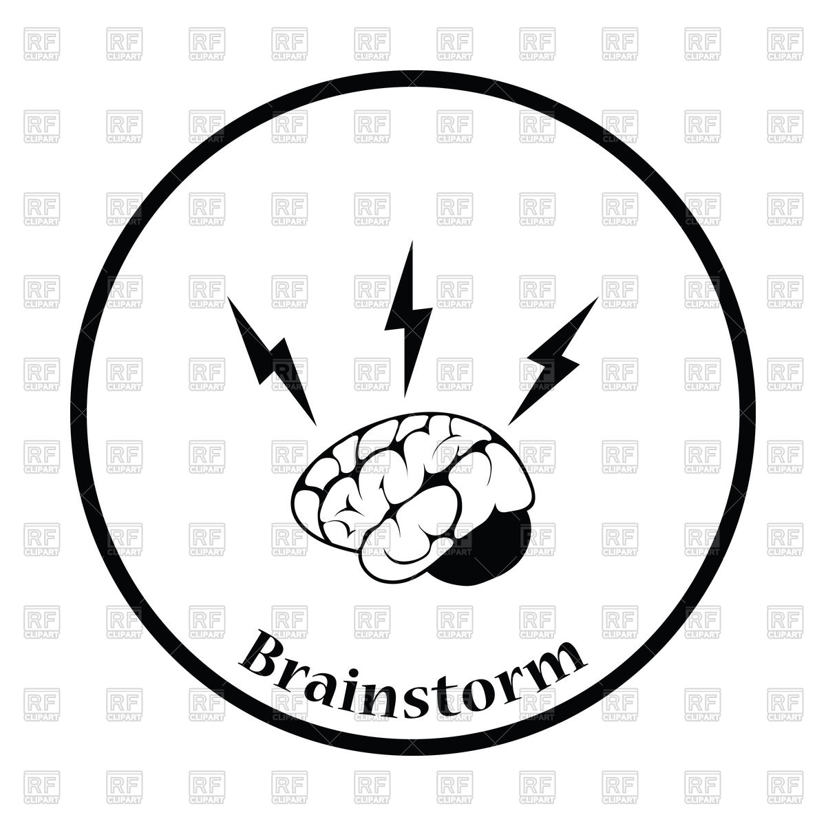 1200x1200 Brain And Lightning Icon