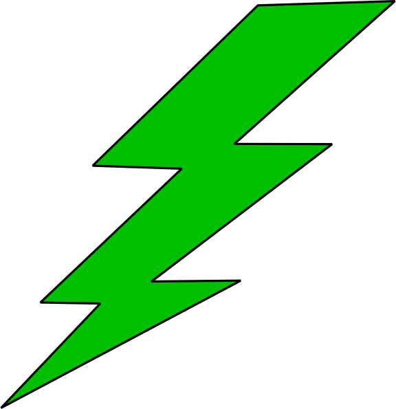 576x595 Green Lightning Bolt Clipart