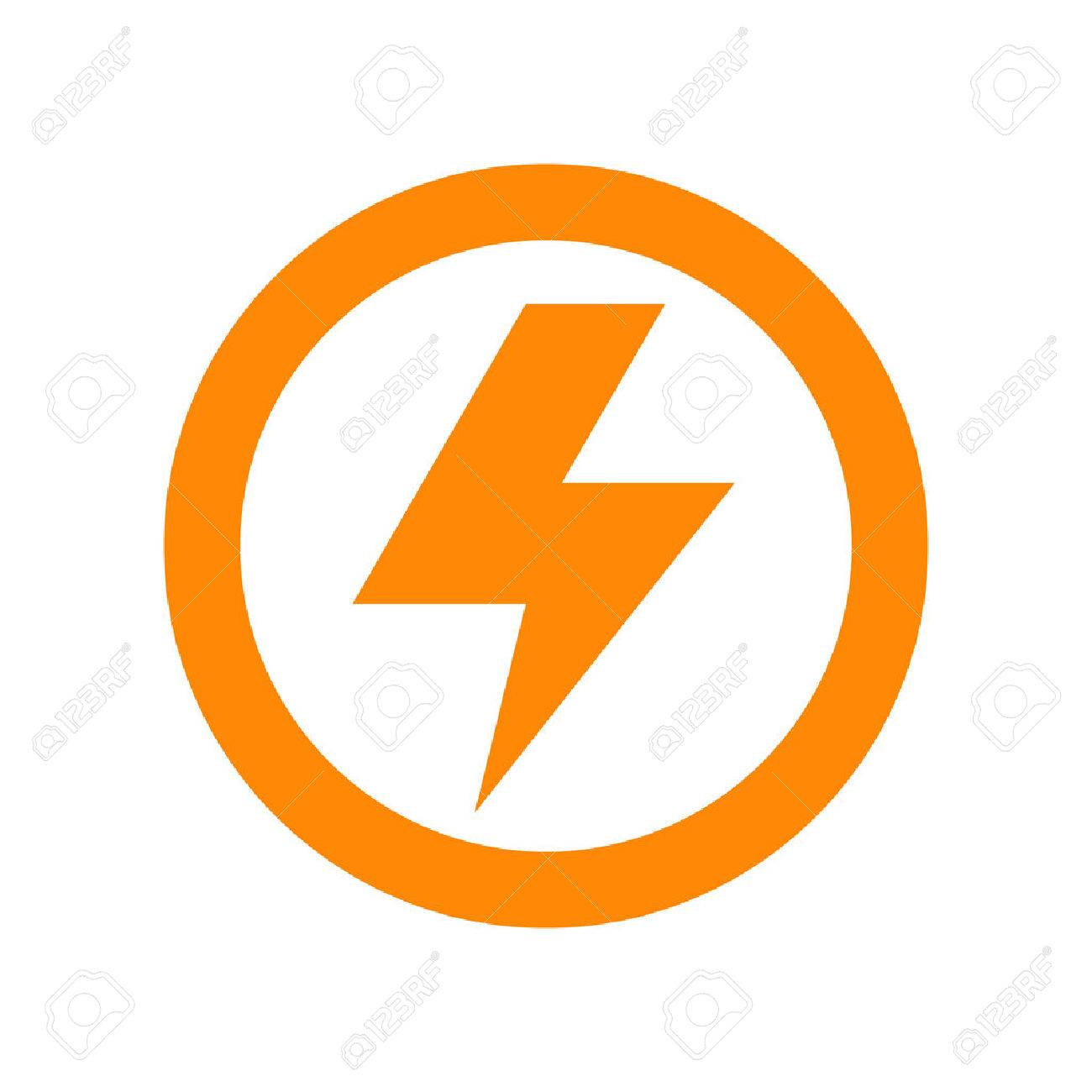 1300x1300 Lightning Bolt Sign Isolated On White Background Royalty Free