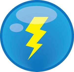 300x291 Lightning Clipart Image