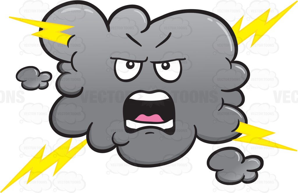 1024x664 Lightning Clipart Angry Cloud