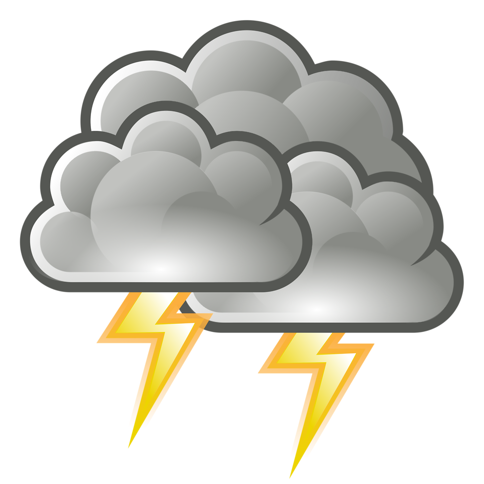 958x958 Lightning Cloud Clipart With No Background Collection
